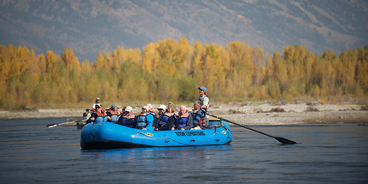 Scenic float on Snake River near Jackson Hole